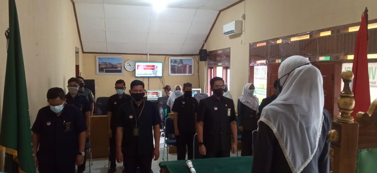 Pembacaan dan Penandatanganan Pakta Integritas Pengadilan Agama Pulau Punjung tahun 2021