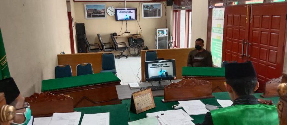 """Pemeriksaan Saksi Melalui """"Teleconference"""" Perdana di Pengadilan Agama Pulau Punjung"""