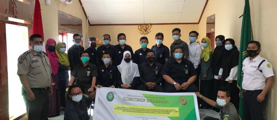 Penandatanganan Komitmen Bersama Pengadilan Agama Pulau Punjung